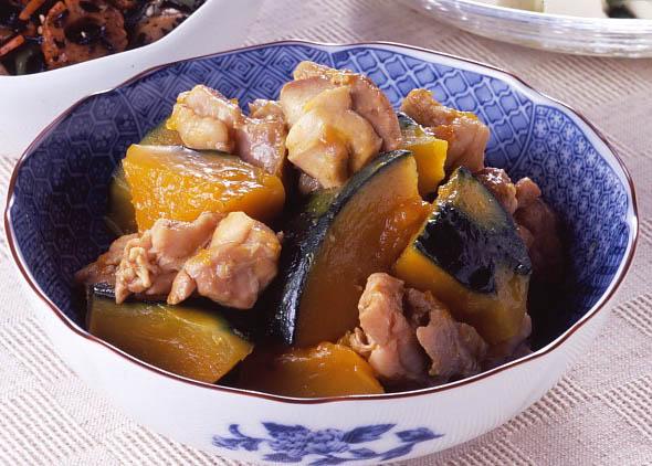 鶏とかぼちゃの煮物