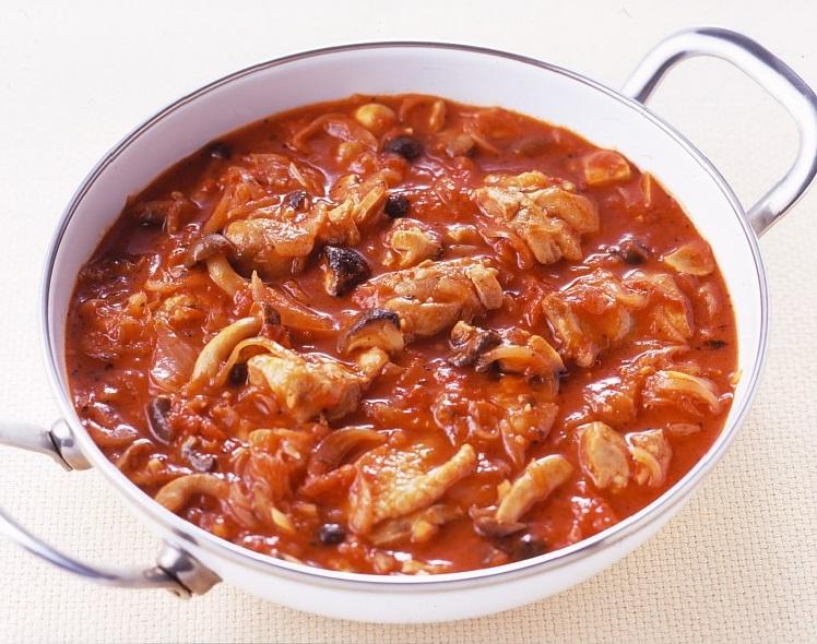 煮 鶏肉 トマト