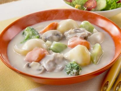 栄養バランスはなまる クリームシチュー | レシピ | ハウス食品