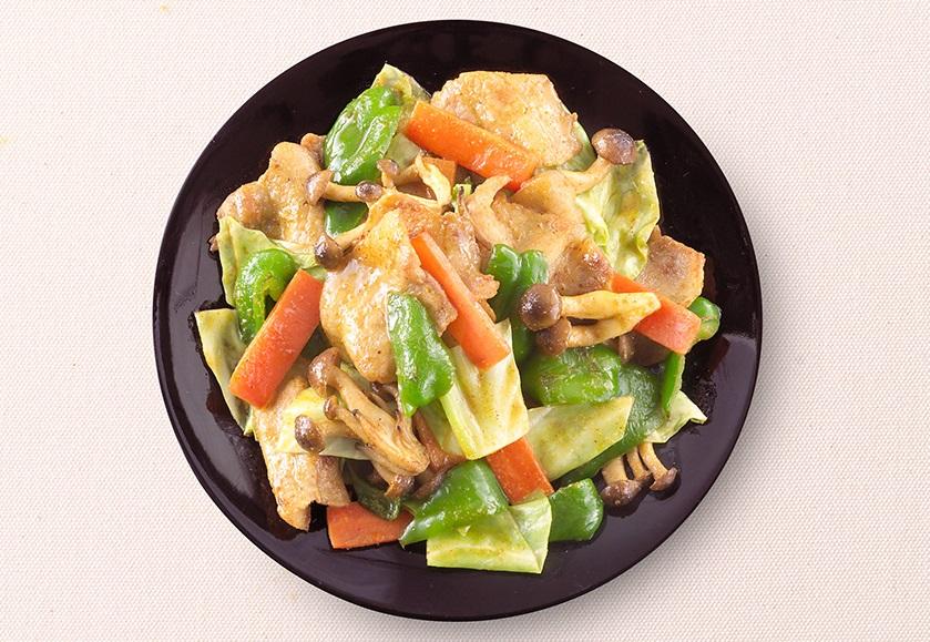 カレー肉野菜炒め