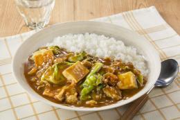 豆腐とキャベツのカレー